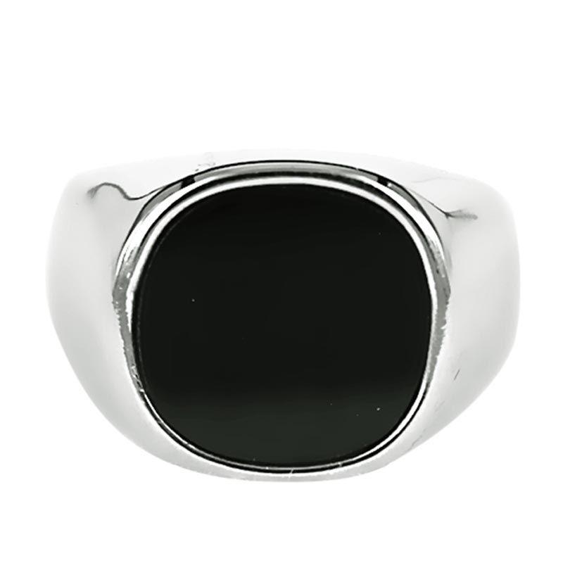 Dparis Round Silver Black Cincin