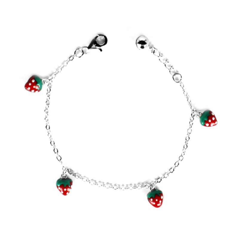 Dparis Strawberry Baby Bracelet Silver Gelang