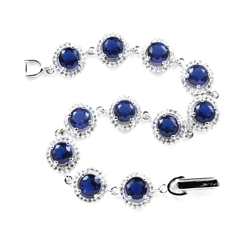 Dparis Studded Eye Blue Bracelet