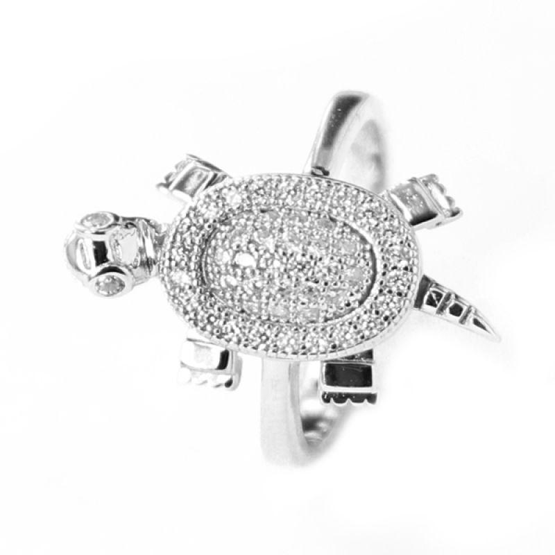 Dparis Turtle Ring Silver Cincin Wanita
