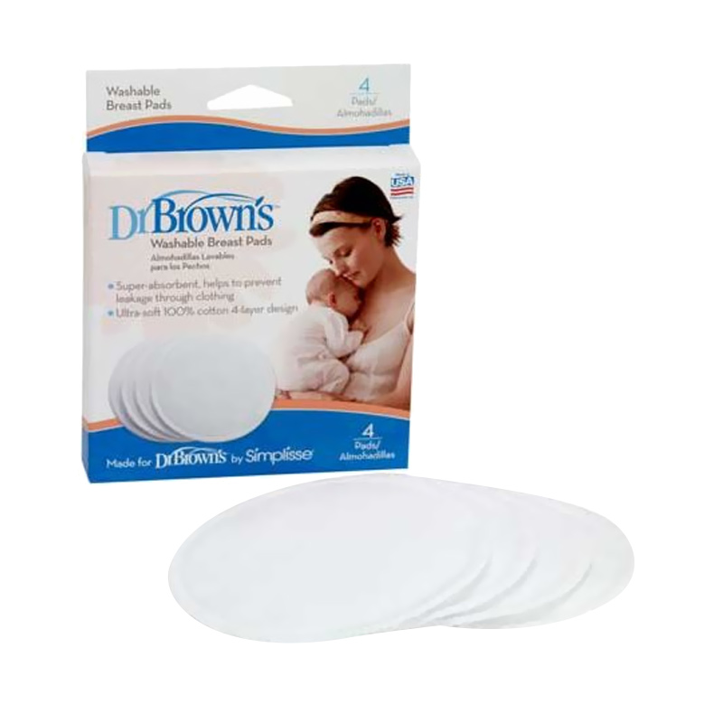 Dr. Brown's Breast Pads Washable [4 pcs]