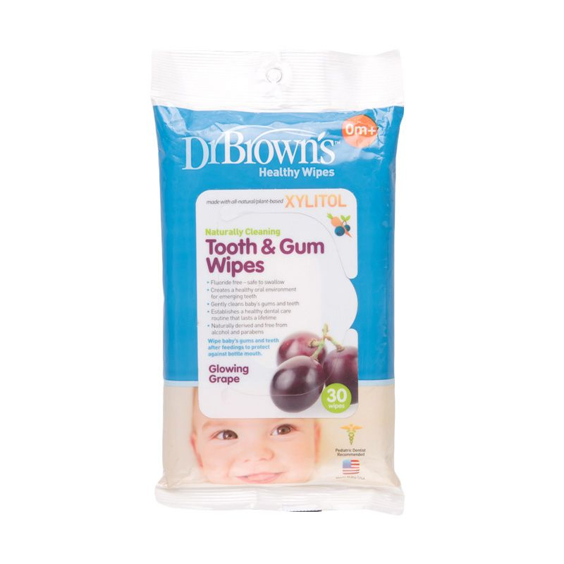 Dr. Brown HG001-P2 Tooth And Gum Wipes Tisu Basah