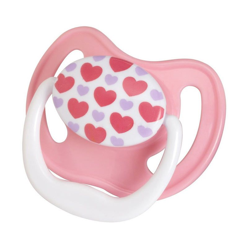 Dr. Brown's PreVent Pacifier Stage 2 6-18M Pink Purple Hearts