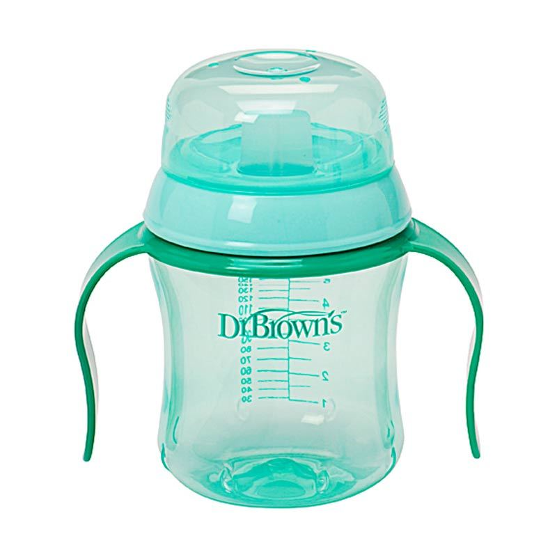Dr. Brown's Training Cup 6oz Soft Spout Green