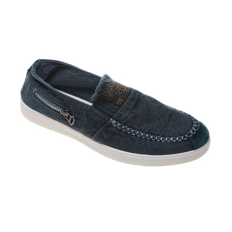 Dr Kevin Denim 83160 Hijau Sepatu Pria