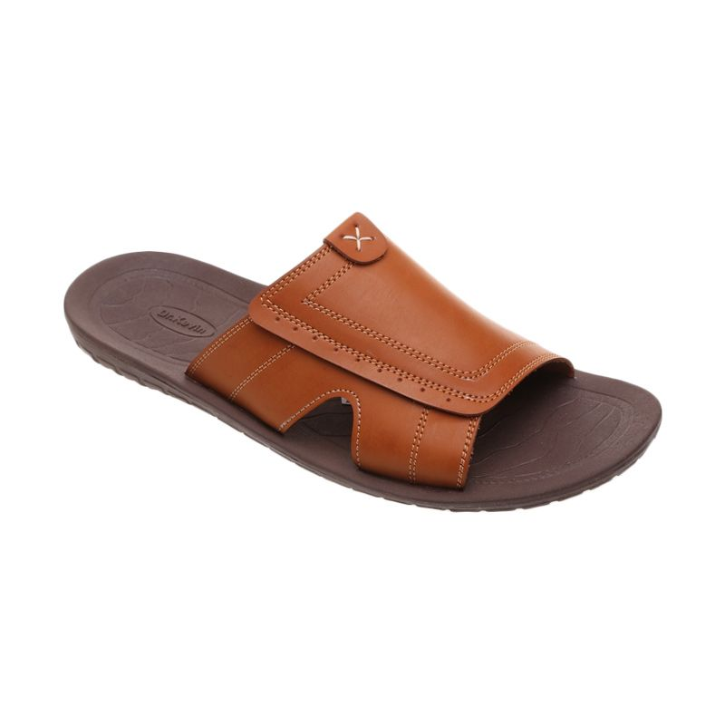 Dr Kevin Strap on Leather 17163 Tan Sandal