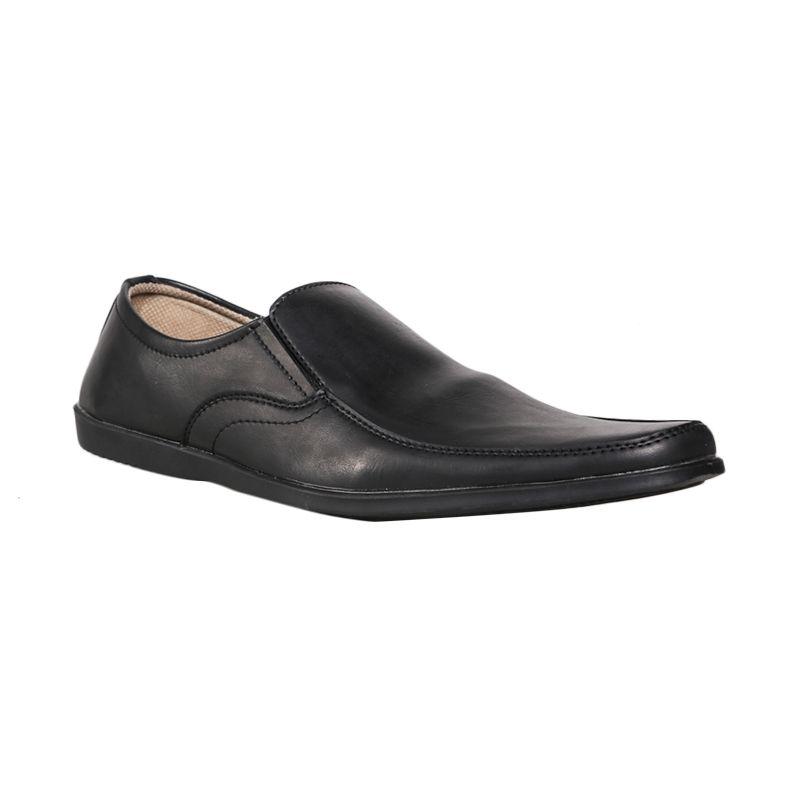 Jual Dr.Kevin 13153 Casual Leather Black Sepatu Pria Online - Harga & Kualitas