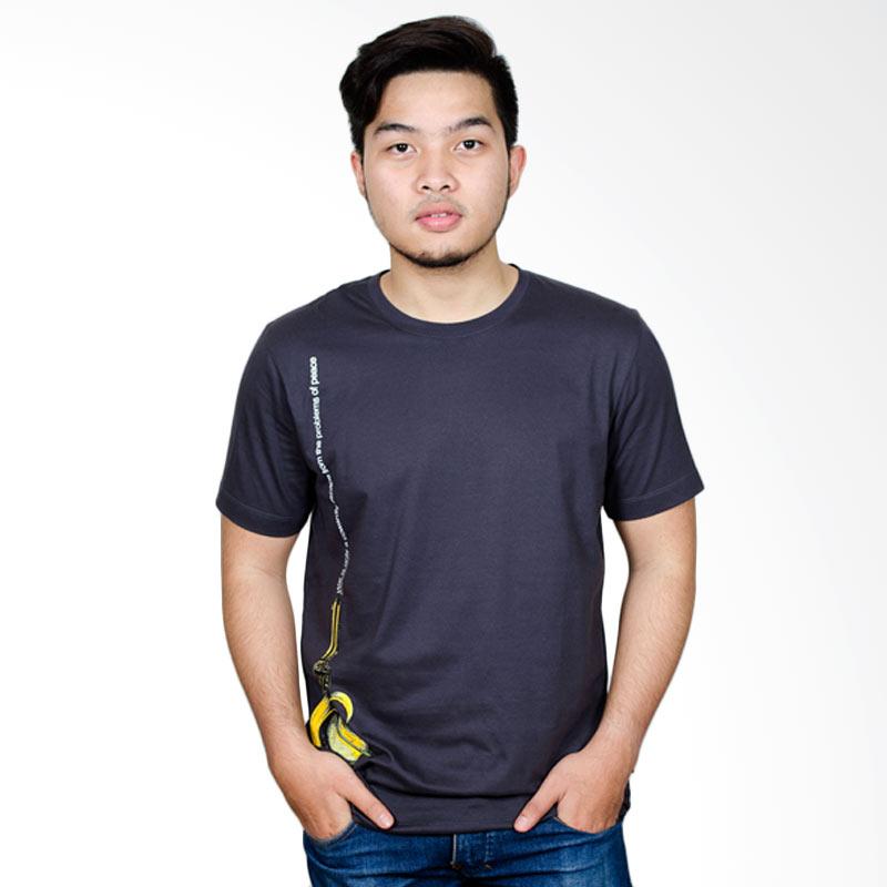 Dragnet Divison Banana Guns T-Shirt Pria - Dark Grey Extra diskon 7% setiap hari Extra diskon 5% setiap hari