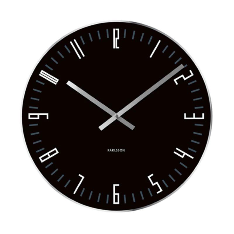 KARLSSON Slim Index Glass Mirror Edge Black Jam Dinding