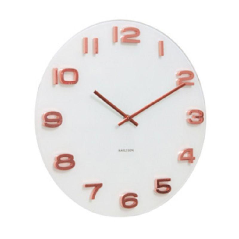 KARLSSON Vintage Copper Numbers White Jam Dinding