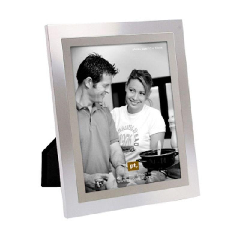PRESENT TIME 2 Tone Steel XL Photo Frame