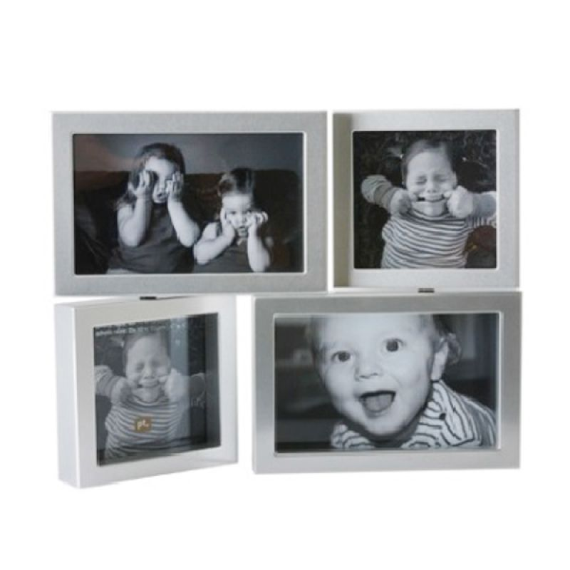 Present Time Dynamic Medium Silver Plastic Photo Frame