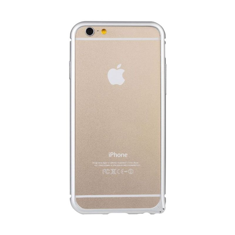 Baseus Arc Bumper Silver Casing for iphone 6