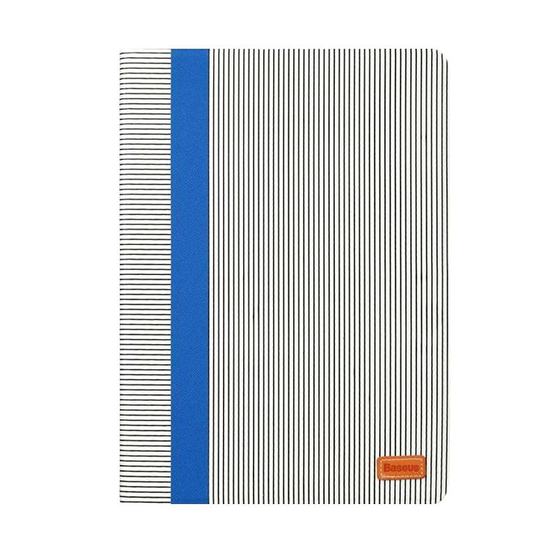 Baseus Classic Collection Flip Blue+White Casing For Ipad Air 2
