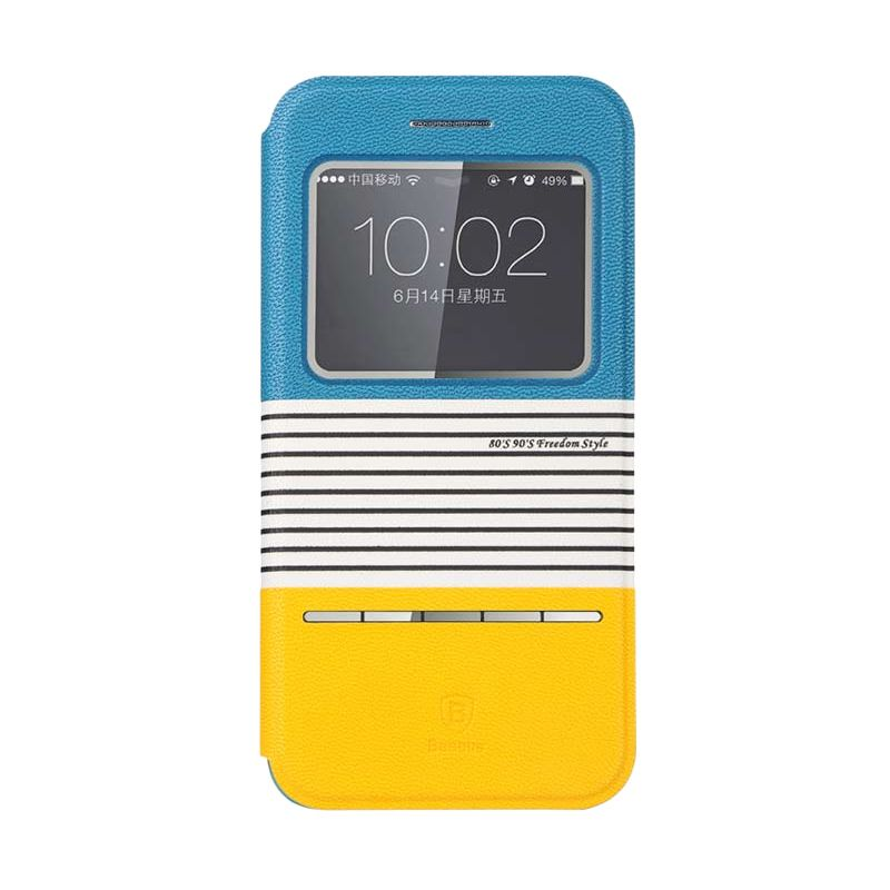 Baseus Eden Leather Blue&Yellow Casing For Iphone 6
