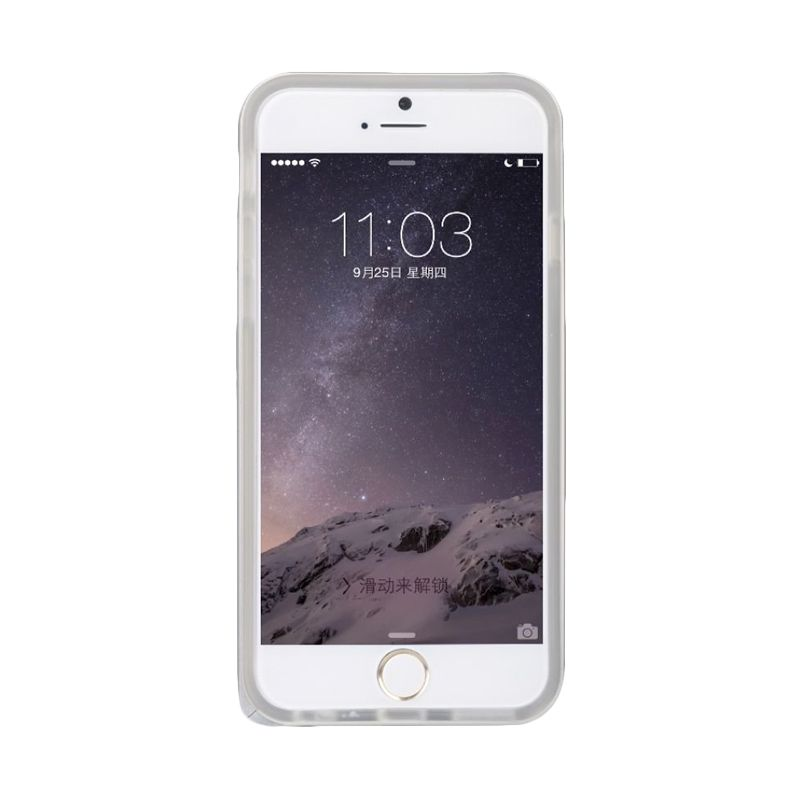 Baseus Fusion Pro Series Metal Bumper+Tpu Back Silver Casing For Iphone 6