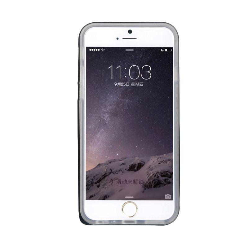 Baseus Fusion Series Metal Bumper+Tpu Back Black Casing For iPhone 6 Plus