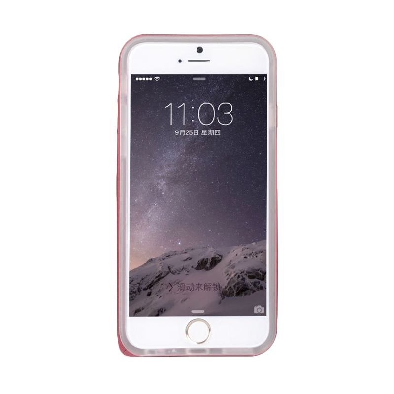 Baseus Fusion Series Metal Bumper+Tpu Back Red Casing For iPhone 6