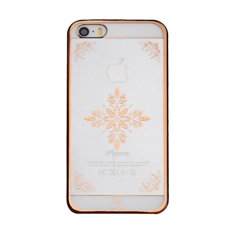 Baseus Royal Snow Pattern Rose Gold Casing for iPhone 5S