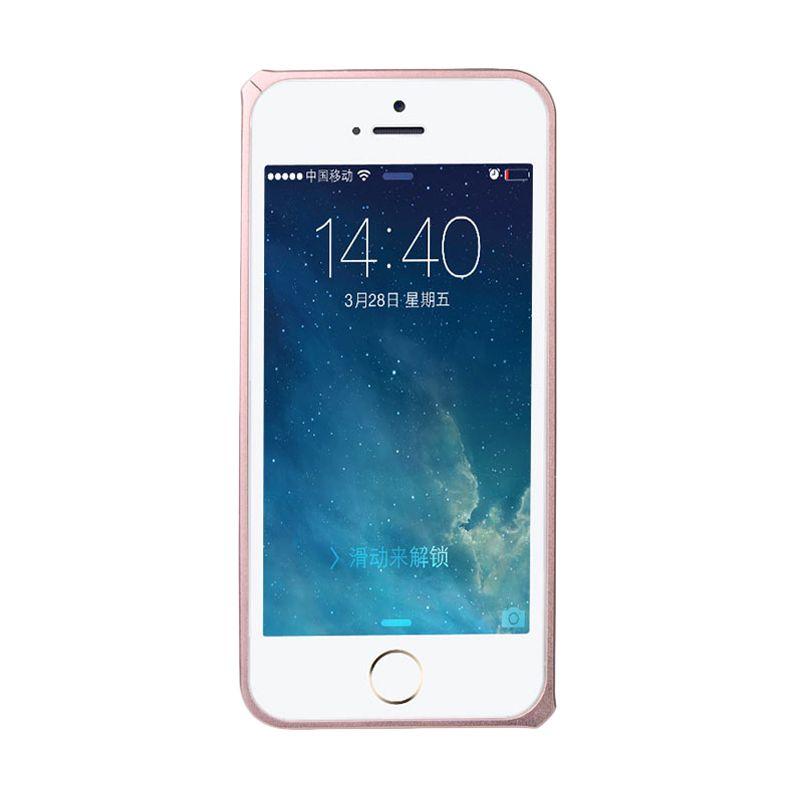 Baseus Sky Light Bumper Rose Gold Casing for iPhone 5 or 5S