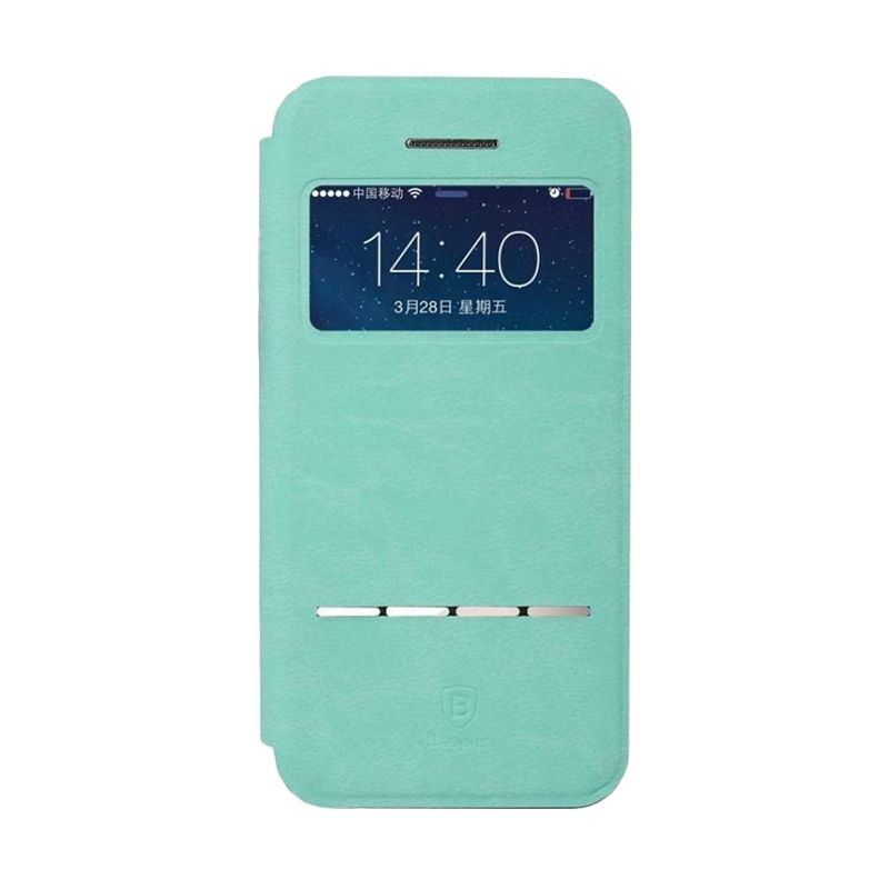 Baseus Terse Leather Blue Casing for iPhone 5 or 5S