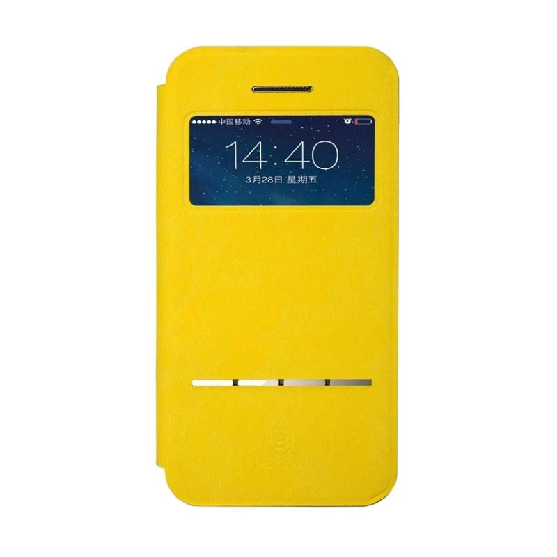 Baseus Terse Yellow Leather Casing for iPhone 5 or 5S