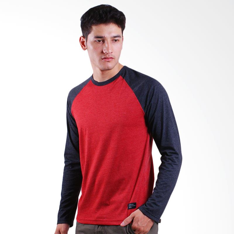 DSVN Atticus Basic T-Shirt Ragland Kaos Pria - Red Extra diskon 7% setiap hari Citibank – lebih hemat 10% Extra diskon 5% setiap hari