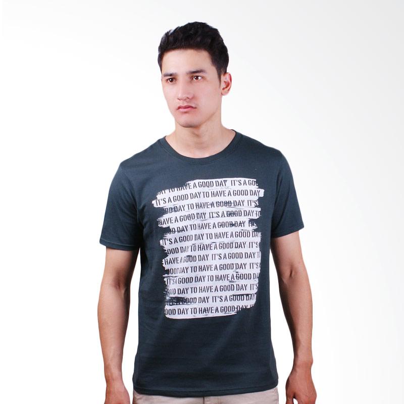 DSVN Boyd Printed T-Shirt Kaos Pria - Dark Grey Extra diskon 7% setiap hari Extra diskon 5% setiap hari Citibank – lebih hemat 10%