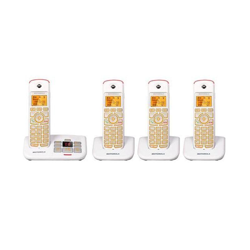 Motorola Answering Machine Cordless Phone K704 White Wireless Telephone
