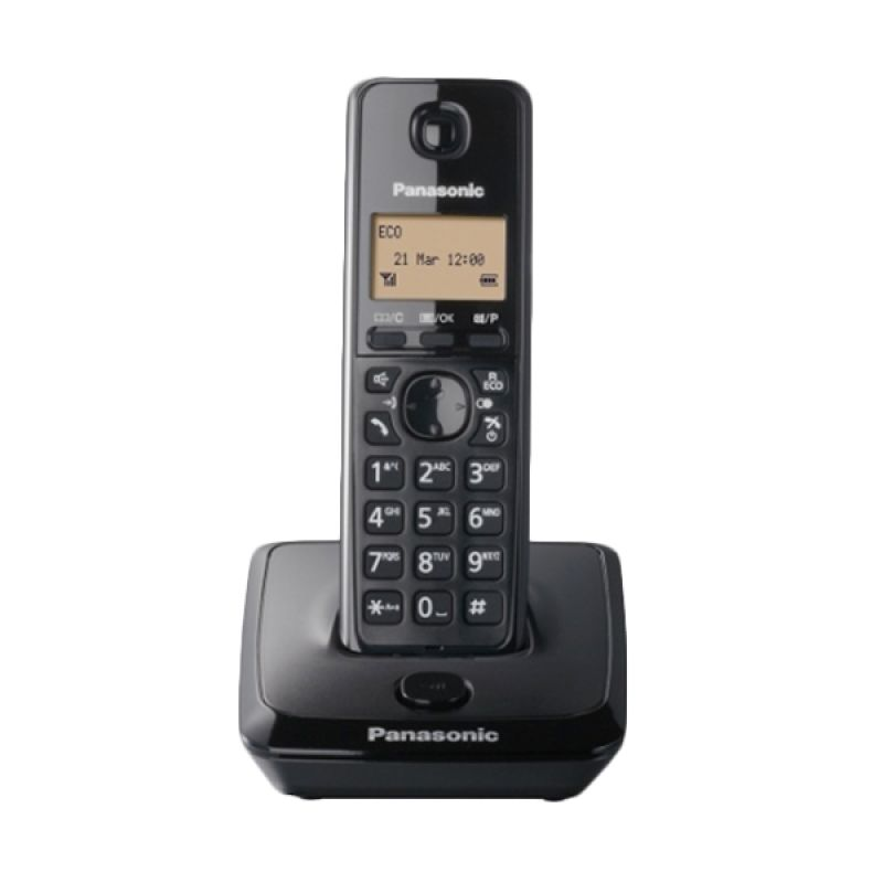 Panasonic Cordless Phone KX-TG2711 Hitam Wireless Telephone [Speakerphone]