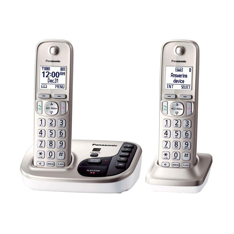 Panasonic Cordless Phone KX-TGD222 N Answering Machine - 2 Handsets