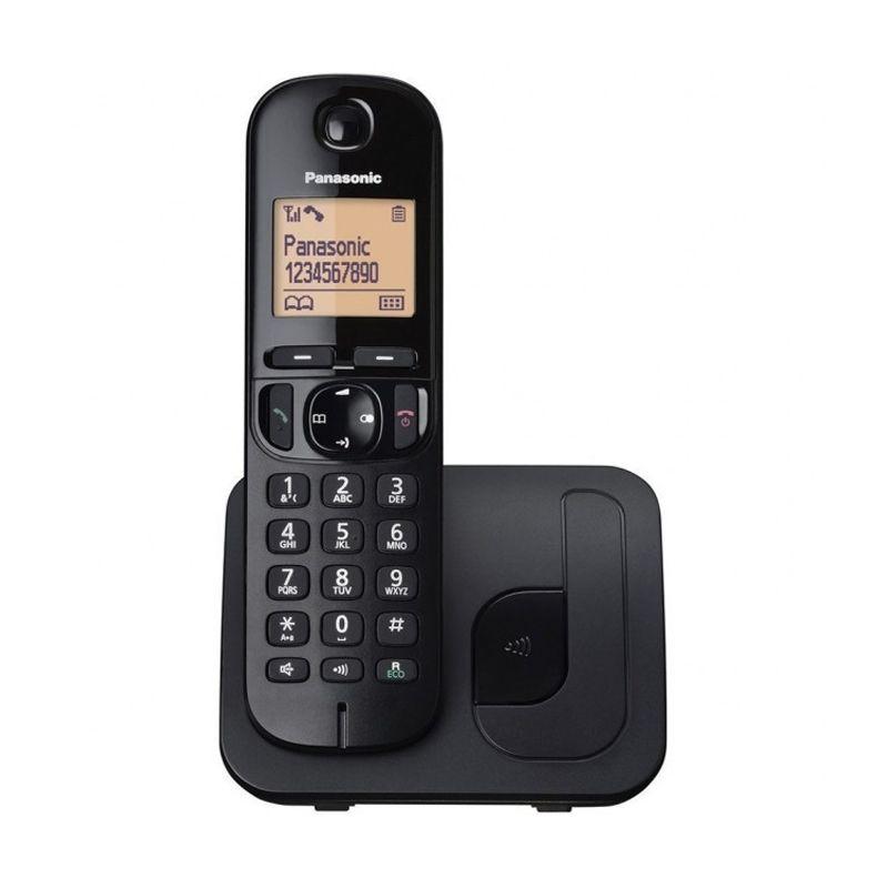 Panasonic Cordless Wireless Phone KX-TGC210 Hitam Telepon