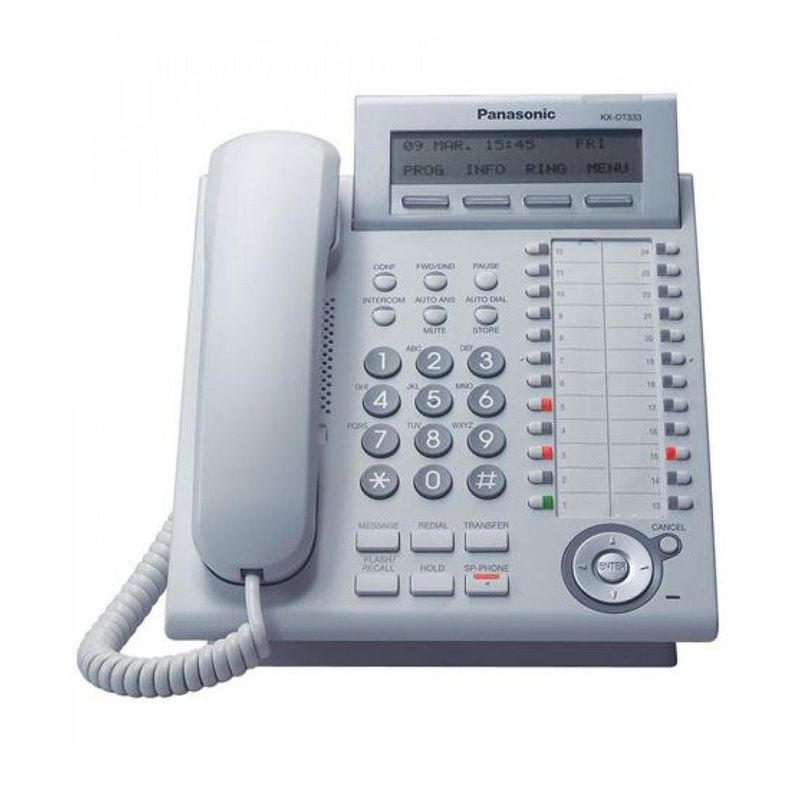 Panasonic Digital Proprietary Digital Phone KX-DT333 Telepon - Putih