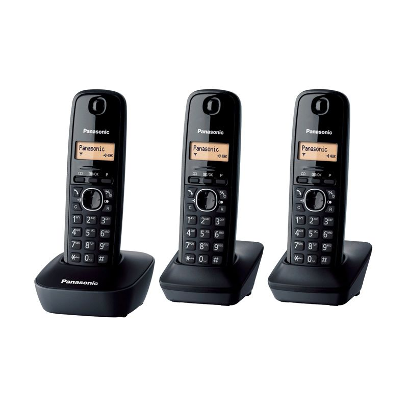 Panasonic Cordless Phone KX-TG1613 Telephone Wireless [3 Handsets]