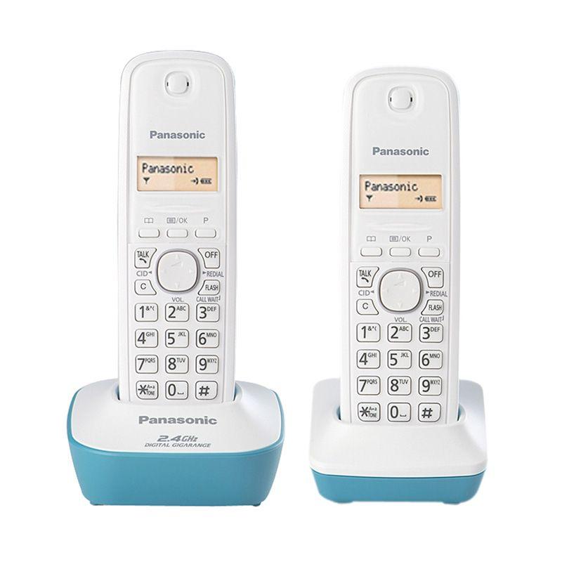Panasonic KX-TG3412 Cordless Toska Telepon [2 Handsets]