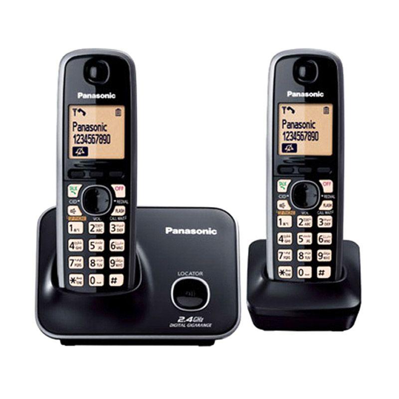 Panasonic Cordless Phone KX-TG3712 Telephone Wireless Speakerphone [ 2 Handsets]