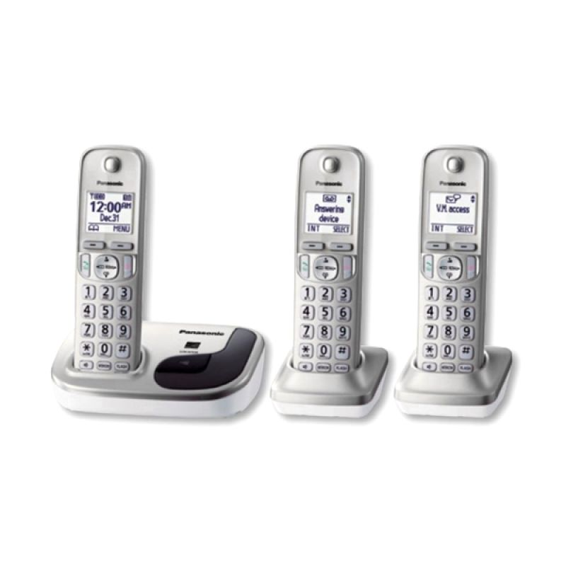Panasonic Cordless Phone KX-TGD213 N Telephone Speakerphone - 3 handsets