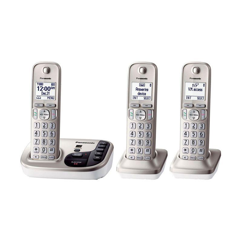 Panasonic Cordless Phone KX-TGD223 N Answering Machine - 3 Handsets