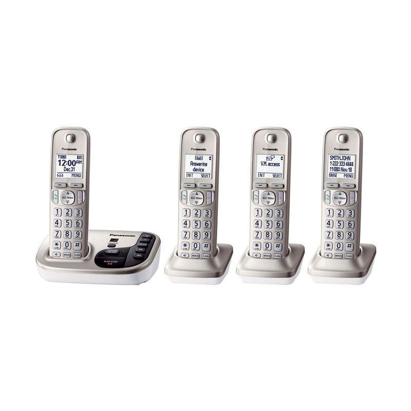 Panasonic Cordless Phone KX-TGD224 N Answering Machine - 4 Handsets