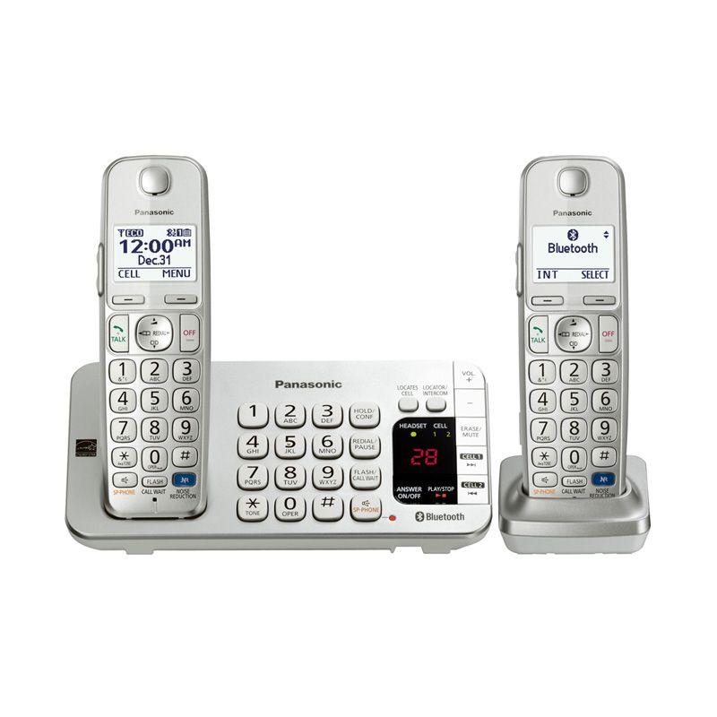 Panasonic KX-TGE272 Cordless Phone Silver Telepon