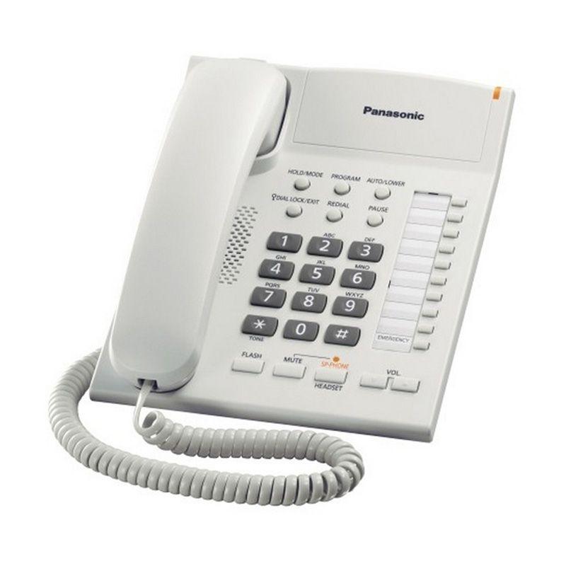 Panasonic Single Line KX-TS840 Telepon Kabel Speakerphone - White