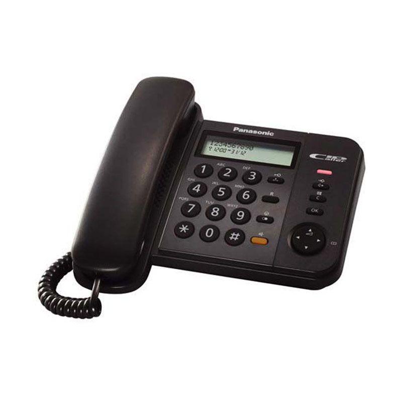 Panasonic Single Line KX-TS580 Hitam Telepon [Speakerphone]