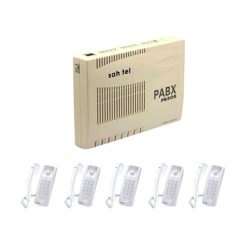 Sahitel PABX PB308 -3 CO-8 Extension PBX + Telepon Sahitel-S21