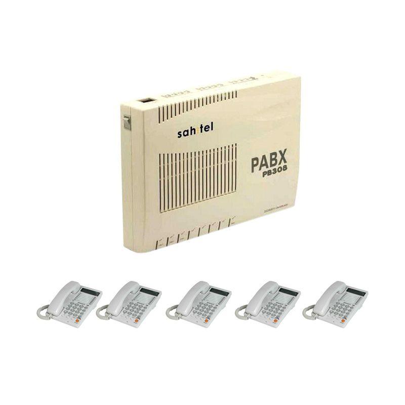 Sahitel PB308 PABX [3 CO Line/8 Extension] + Telepon Sahitel-S75