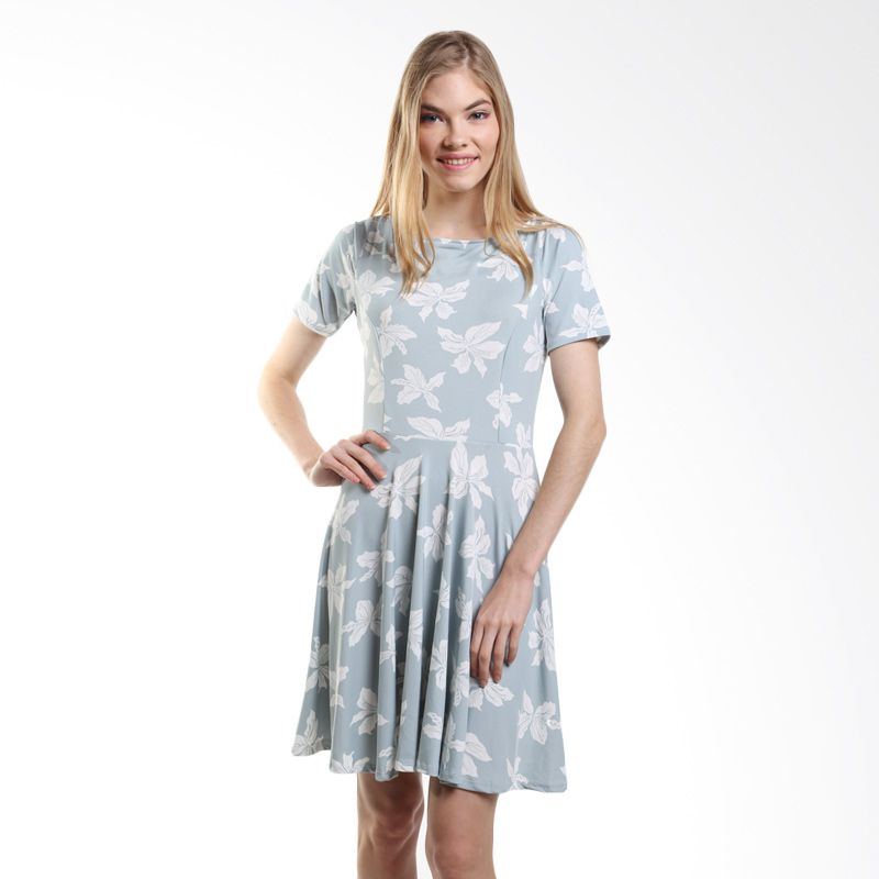 Duapola Flower Hazel 8812 Baby Blue Mini Dress