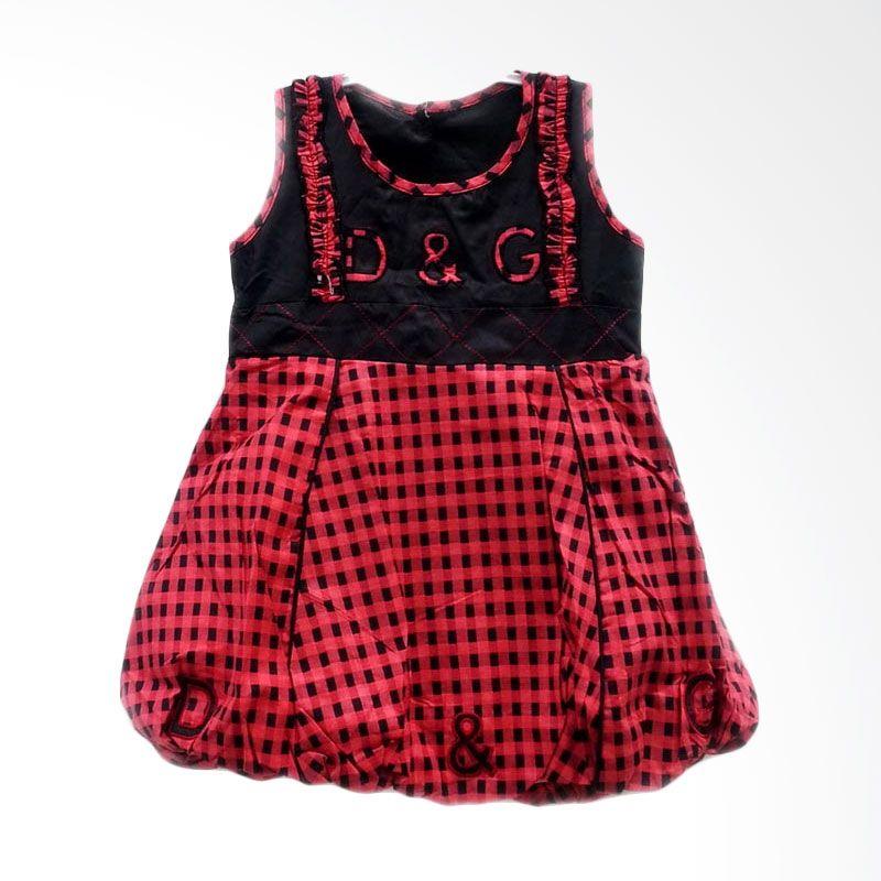 Two Mix Dress 1202 Ballon Kotak Merah