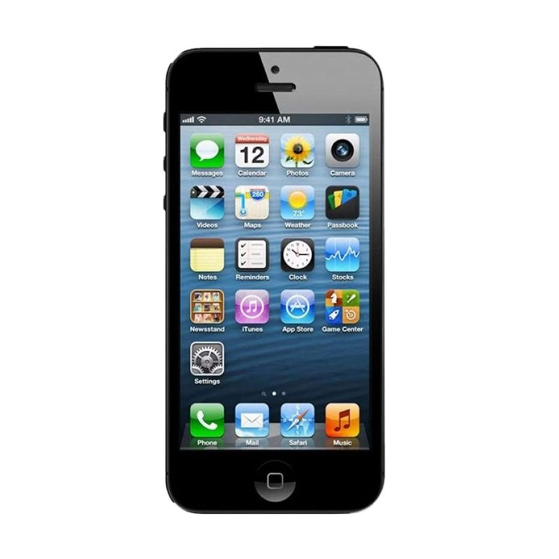 Apple iPhone 5 (Refurbish) 16 GB Hitam Smartphone