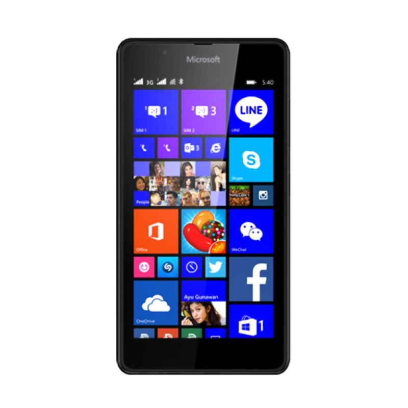 Lumia Microsoft 540 Hitam Smartphone [8 GB]