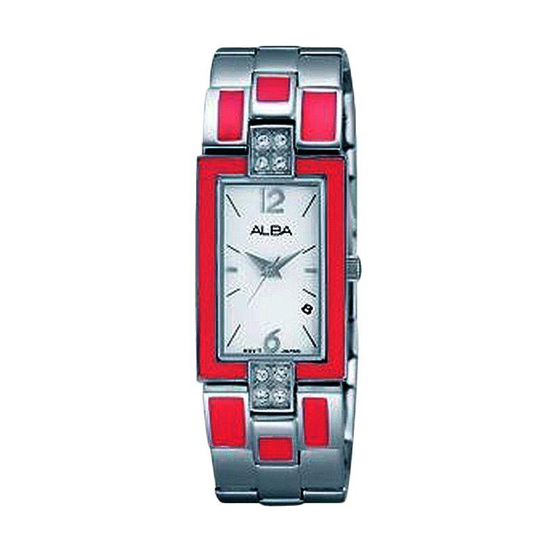 Alba AH7C11 Silver Merah Muda Jam Tangan Wanita