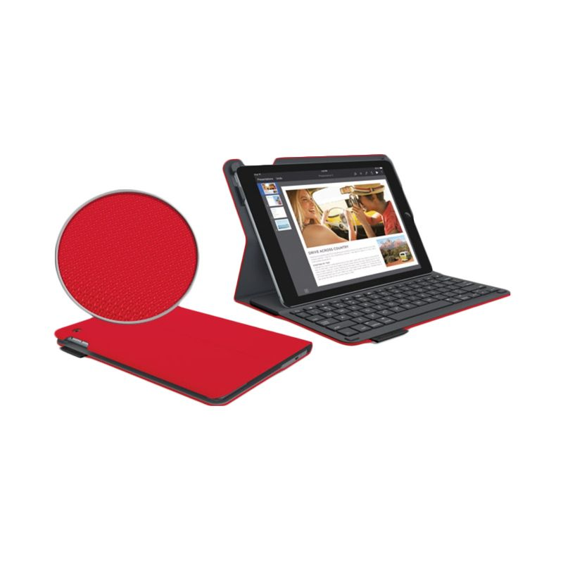 Logitech Type+ 920-006612 Bright Red Keyboard Folio for iPad Air 2